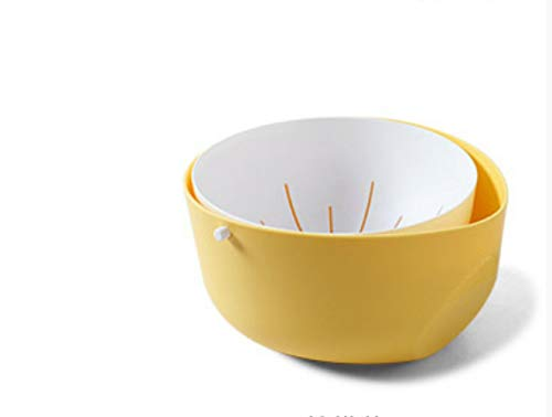 feimeifen Geschirrspüler, Obstkorb, Geschirrspüler 11,5 cm * 22,4 cm Gelb