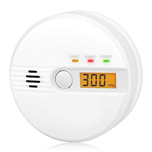 Kohlenmonoxid Warnmelder LCD Anzeige CO Melder 85Db Alarm Kohlenmonoxidsensor...