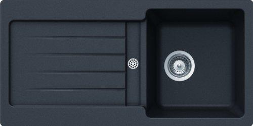Schock Küchenspüle Typos D-100S, Auflage in Nero