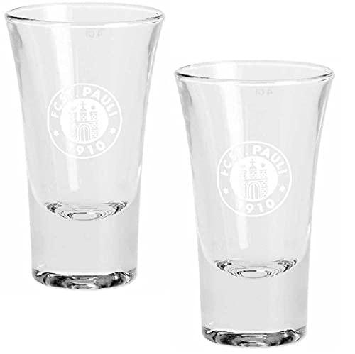 FC St. Pauli Schnapsglas 2er-Set - Logo weiß - Glas, Shot glases - Plus...