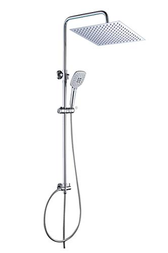 JOHO Duschset Duschstangeset Duschsäuleset Duschsystem mit Duschkopf aus...