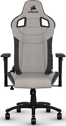 Corsair T3 Rush, Polyester Stoff Gaming Büro Stuhl (Atmungsaktivem Weichen...
