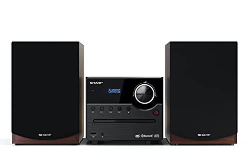 SHARP XL-B517D(BR) Micro Sound System Stereo mit DAB, DAB+, FM, Bluetooth,...