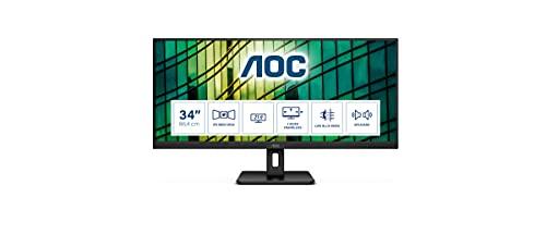 AOC Q34E2A - 34 Zoll QHD Monitor, Adaptive Sync (2560x1080, 75 Hz, HDMI,...
