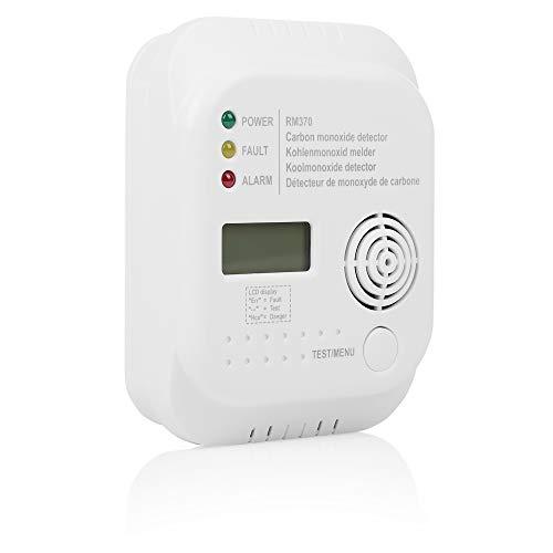 Smartwares RM370 Kohlenmonoxid CO Melder mit Display und Temperaturanzeige,...