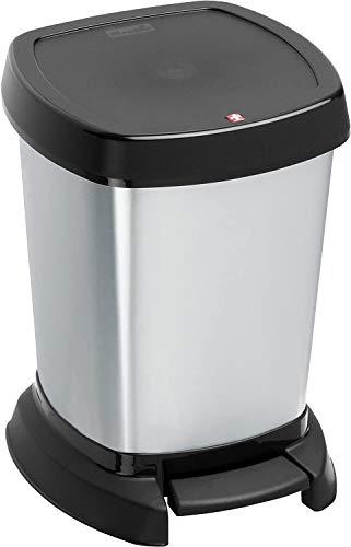 Rotho Paso Mülleimer 6l für das Bad mit Deckel, Kunststoff (PP) BPA-frei,...