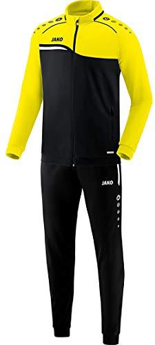 JAKO Herren Competition 2.0 Trainingsanzug Polyester, schwarz/Neongelb, S