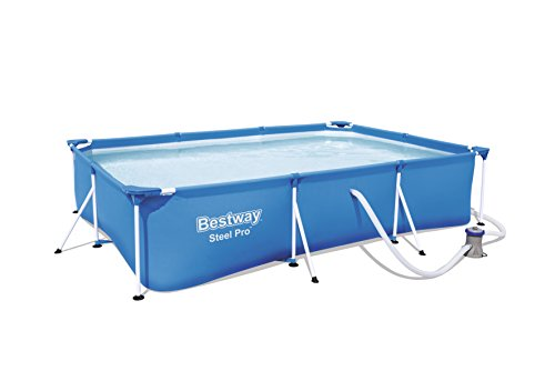 Bestway Frame Pool Deluxe Splash - Steel Pro, Set mit Filterpumpe, 300 x 201 x...