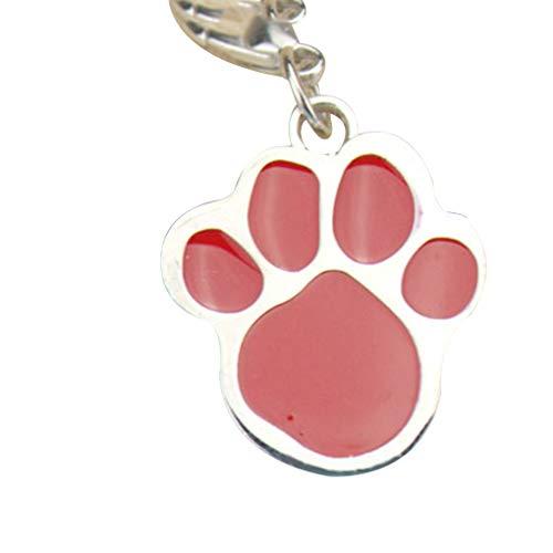 Regard Natral Hunde-/Katzenpfoten-Schlüsselanhänger, Edelstahl, mit...