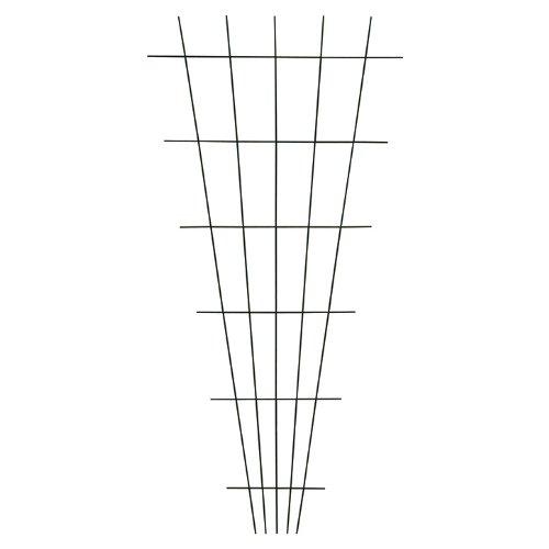 Xclou Gitterspalier V-Form in Braun, wetterfestes Metallspalier...