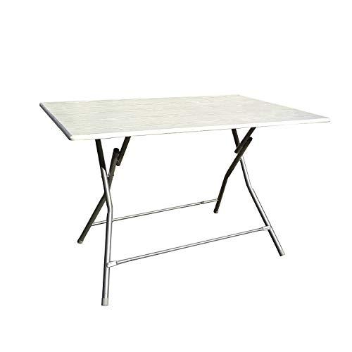 Mediawave Store - Klapptisch Bingo 120 cm aus lackiertem Stahl und Top aus Holz,...