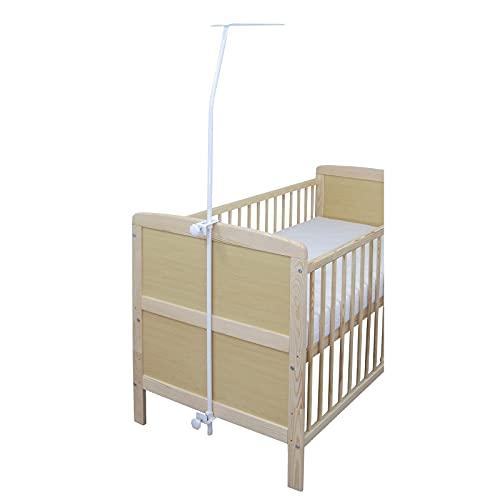 Baby Delux Himmelstange Himmelhalter universell weiß mit Klemme für Babybetten...