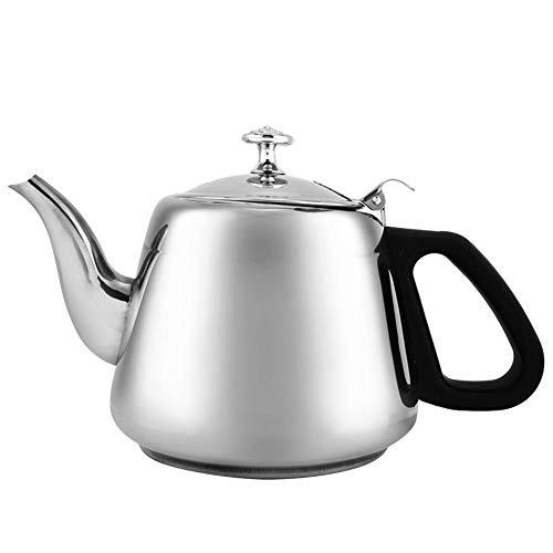 Silberfarbene Teekanne, 1,5 l/2 l Edelstahl-Teekanne mit Kochfeld, Kaffeekanne,...