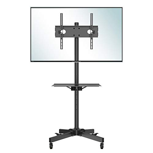 BONTEC TV Ständer Rollbar TV Rollwagen mit Tablett für 23-60 Zoll...