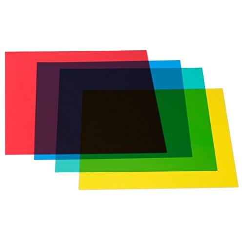 Neewer 30x30 cm Farbfilter Set Gel Farbkorrektur Licht Filter, 4 Stück...