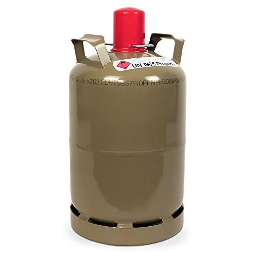 CAGO Camping Gas-Flasche (Leer) - Befüllbarer 11kg Gas-Behälter mit...