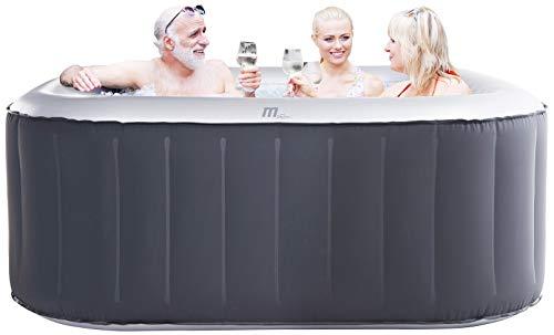 Miweba MSpa aufblasbarer Whirlpool Outdoor - 6 Personen – 132 Düsen - 185x185...