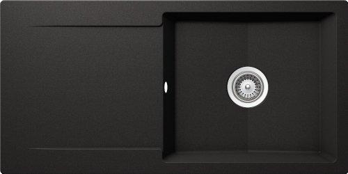 Schock EPUD100LAGNE Küchenspüle Epure D-100L, Auflage in Nero