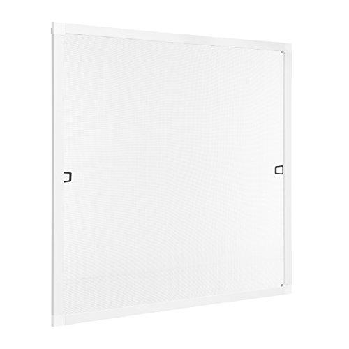 Ventanara Insektenschutz Fliegengitter Fenster Spannrahmen Weiß RAL 9016 130 x...