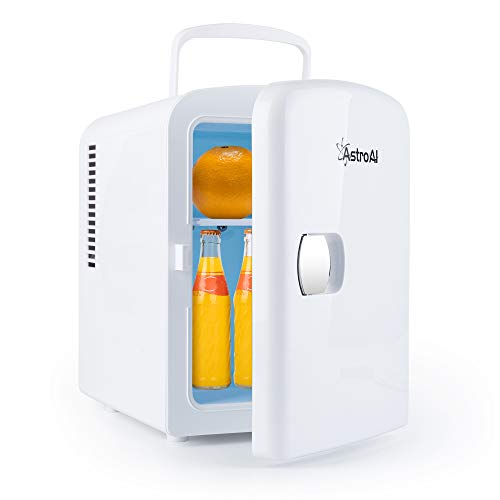 AstroAI 2 in 1 Mini Kühlschrank, 4 Liter mit Kühl- und Heizfunktion 12 Volt am...