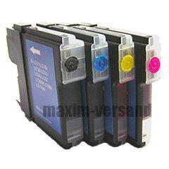 4X Reinigungspatronen Set für Brother LC-985 Black, Cyan, Yellow, Magenta...