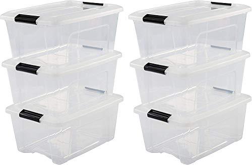 Iris OHYAMA stapelbare Aufbewahrungsboxen mit Klickverschluss, Plastik,...