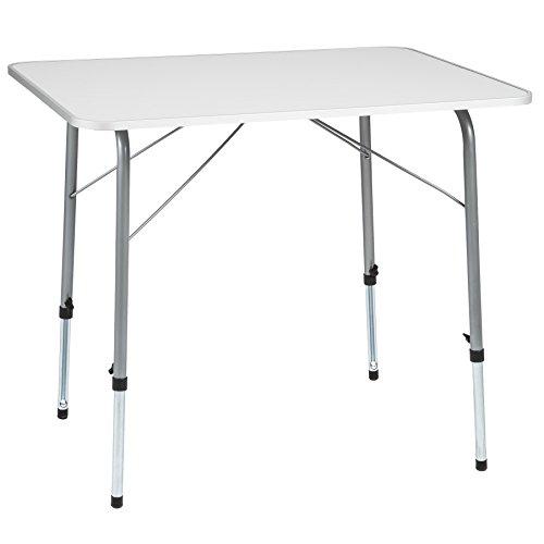 TecTake Campingtisch Gartentisch klappbar höhenverstellbar (LxBxH): ca. 80 x 60...