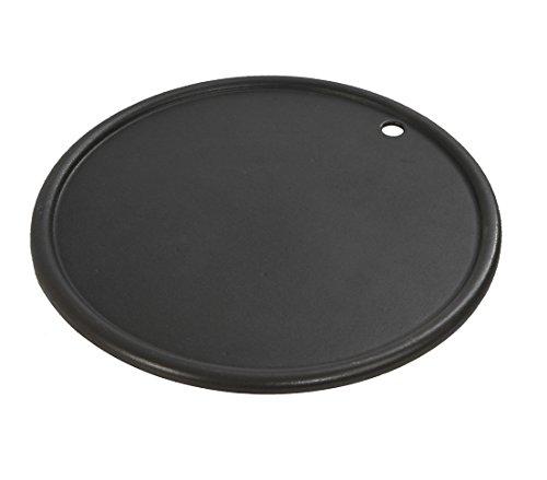 Dehner Grillplatte, geriffelte und glatte Seite, Ø 30.5 cm, Gusseisen, schwarz
