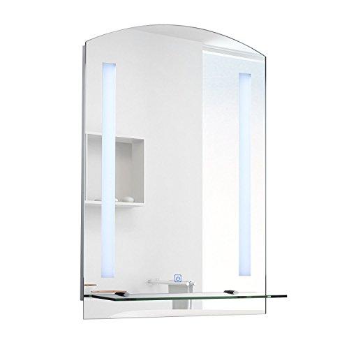 HOMCOM LED Spiegelschrank Lichtspiegel Badspiegel Badschrank Badezimmerspiegel...