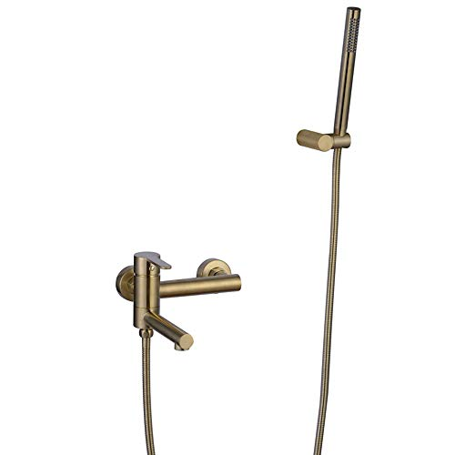 HNBMC Badewannenarmatur mit Handbrause, Gebürstetes Gold Badewannen Wasserhahn...