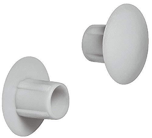 Gedotec Schrauben-Abdeckungen grau Möbel-Abdeckkappen zum Eindrücken...