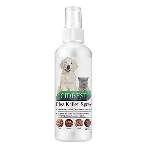 Zeckenspray für Hunde,Juckreiz Spray für Haustiere,Zeckenspray,Flohspray,Floh...