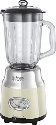 Russell Hobbs Glas-Standmixer Retro creme, Retro-Anzeige,20.000 U/min,1.1...