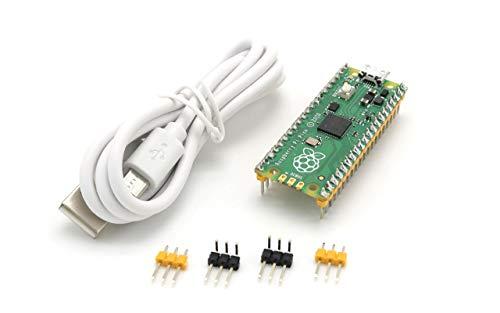 Raspberry Pi Pico Board with Pre-soldered Header Flexible Microcontroller Board...