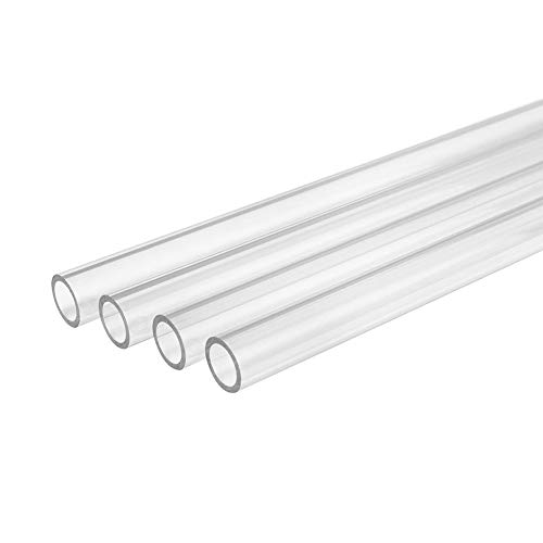Dumadf Acryl Plexiglasrohr, Plexiglas Rohr, 4 Stück Plexiglas-Schlauch für die...