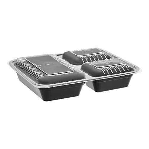 AmazonBasics – Frischhaltedosen mit 3 Fächern, BPA-frei, geeignet für...