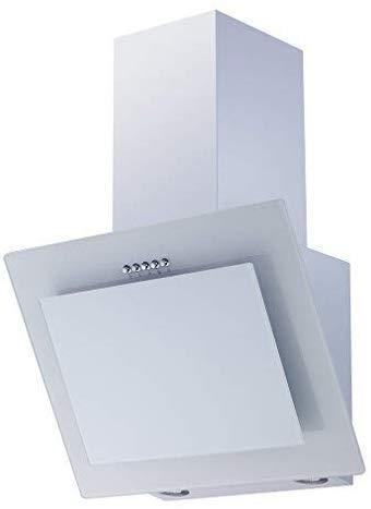 respekta Dunstabzugshaube Schräghaube Wandhaube Esse kopffrei 60 cm weiß LED
