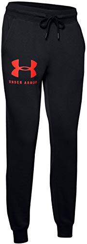 Under Armour Damen Trainingshose Rival Fleece Sportstyle Pant 1349097 Black/Beta...