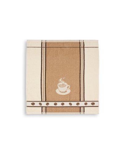 KRACHT, Frottiertuch Espresso , beige, Format 50/50, 100% Baumwolle