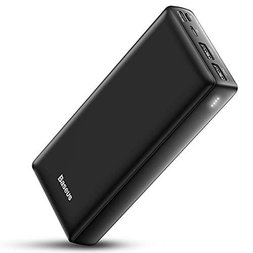 Baseus Power Bank Externer Akku 30000mAh, USB C Schnelles Aufladen Tragbares...