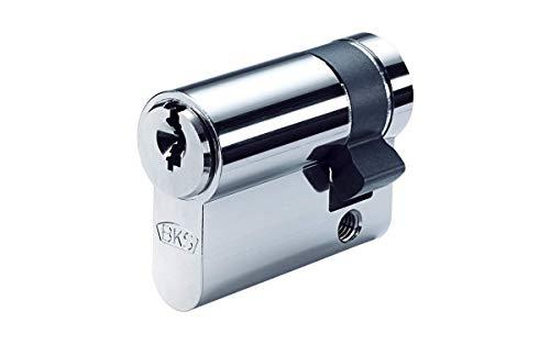 BKS Helius Halbzylinder 27/10 inkl. 5 Schlüssel - Sicherheits-Türzylinder -...