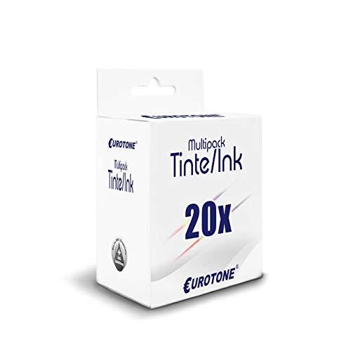 20x Eurotone Patronen für Canon MG 5450 5550 5650 5655 6350 6450 6650 7150 7550...