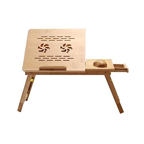 XUQIANG Laptop-Bett, Tisch, Schreibtisch Bamboo Faltbare höhen- und...