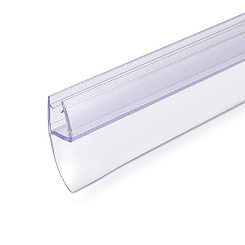 Navaris Schwallschutz Duschdichtung Duschkabine 180° - für 6mm dicke Glas...