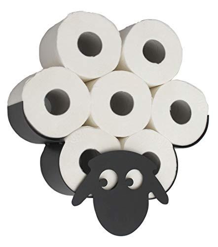 DanDiBo Toilettenpapierhalter Schaf Wandmontage Schwarz Metall...