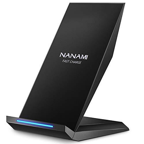NANAMI Fast Wireless Charger, Qi Ladegerät für iPhone 11 /XS/XS Max/XR/X/ 8/8...