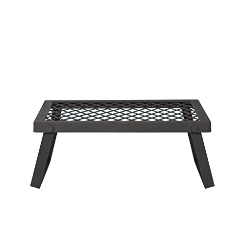 Amazon Basics - Robuster, klappbarer Camping-Grill, Extra-Groß