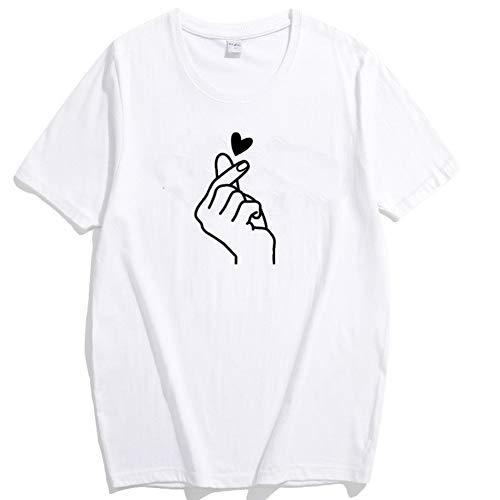 Damenmode Loses T-Shirt Nachfüllmuster Damen Rundhals-Kurzarm-Oberteil