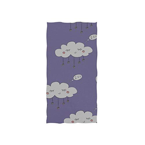 N\A Schweißtuch Cute Cartoon Puple Cloud Wimpern Soft Towel Fingertip Handtuch...
