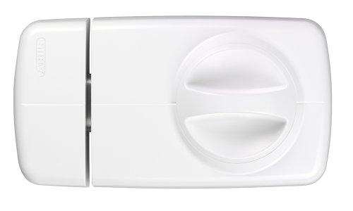 ABUS Tür-Zusatzschloss 7010, mit Drehknauf, weiß, 53294